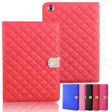 LUXURY CRYSTAL DIAMOND QUILTED LEATHER STAND MAGNETIC CASE COVER FOR APPLE IPAD 2 3 4