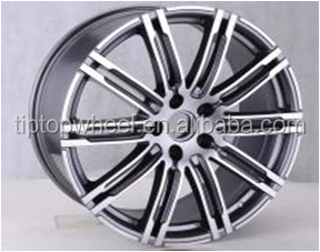19x8.5 inch aluminium rim for porsche German replica wheel with pcd 5x130mm