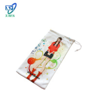 Microfiber Mobile Phone Pouch with Soft Cases, Logo Printing and Single/Double Drawstring (XY-00223)