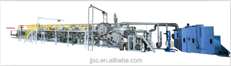 China full servo adult diaper production line, for high-quality diapers,raw material support