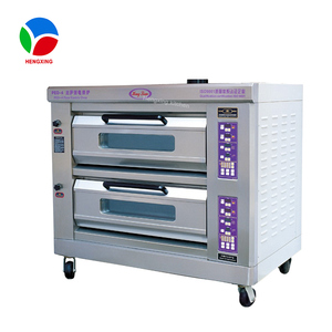 Automaticly Rotary Bakery Pizza Oven Machine / Stainless Steel Gas Bread Baking Oven for Sale