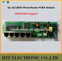 Full Customized OEM/ODM Mulitmedia cabinet 5p 10/100M PPPoE Network NAT Broadband Lay2 PCBA Module wired Routers