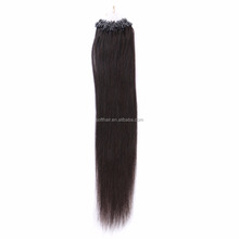 Soft Hair factory wholesale black straight micro loop hair extension 1g brazilian remy micro braiding hair
