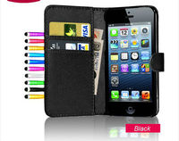 Wallet Leather Flip Pouch Case Cover for iphone 5 5g,for iphone 5 wallet case