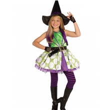 Children GIRLS Halloween performance clothing masquerade costumes girls kids cosplay dress WITH HAT/Butterfly and witch costume