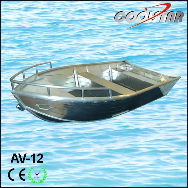 Av type aluminium fishing boat buy fully welded aluminum for Fishing boat types