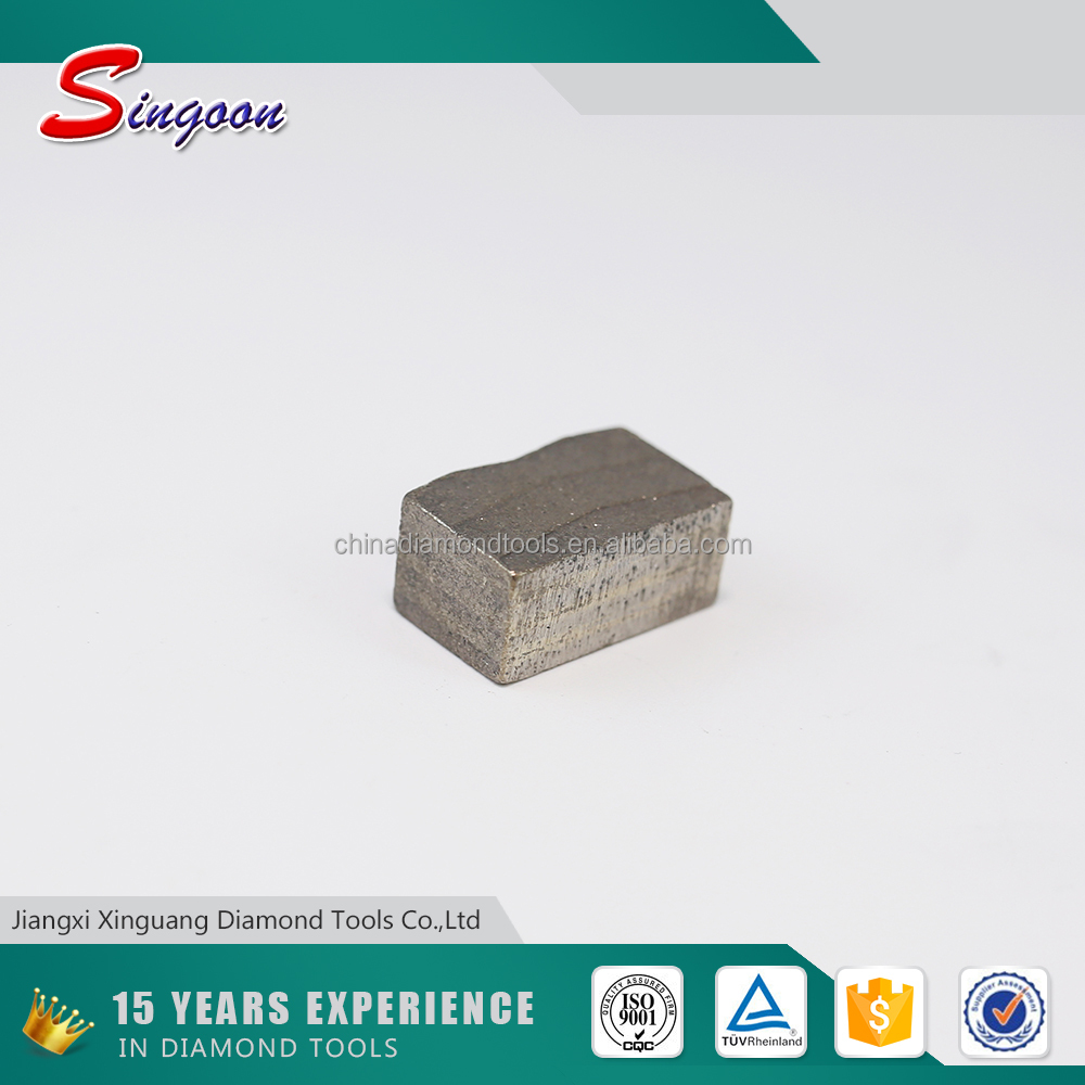 Block Cutting Segment Hard Rock Stone Tools Cutting Red Granite Diamond Segment For 2000mm Circular Blade