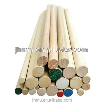 wood round rods of cherry material