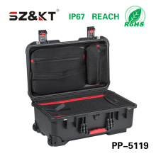 PP waterproof shockproof case with PU foam