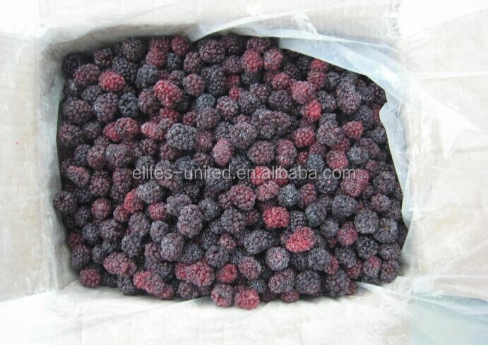 2017 July China new harvest crop low price dark IQF blackberry for fruit jam