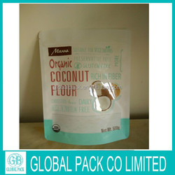 hot sale stand up ziplock bags food bag for coconut chips