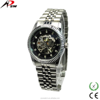 Stainless steel machinery movement hollow out mechanical movement fashion men's watch