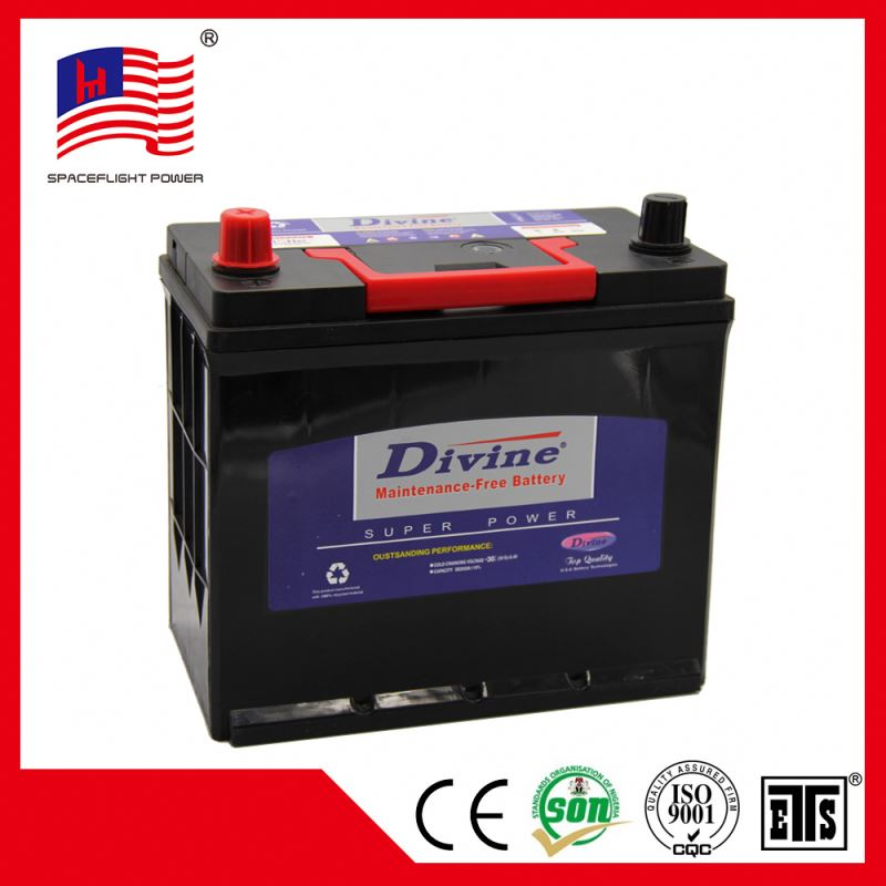 korean style 12V45AH JIS Global korean car battery 46b24ls MF