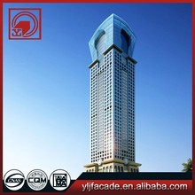 Aluminium fabrication luxuriant design unitized glass curtain wall