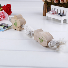 Pet Supplies Toy Cotton Rope Throwing Variety Cute Wood Ball Pet Toy For Dogs