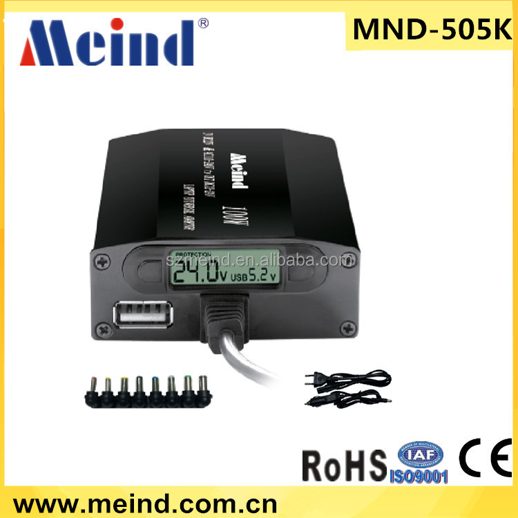 Meind 505K 100w/120w multiple laptop battery charger, universal laptop charger for home & car use