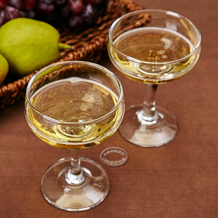 Round crystal champagne glass,stem champagne coupes.