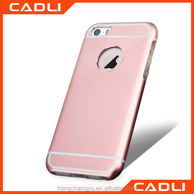 Ultra Thin Shockproof TPU +Hard metal Case Cover For iPhone 5 5S SE Phone Shell