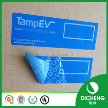 Free sample tamper evident void sticker anti-fake void labels