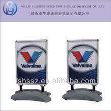 outdoor water fill base aluminum sign frame floor poster stand H18