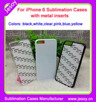 JESOY Blank Cases Sublimation 2D Cases Cover For iPhone 6 Cover case
