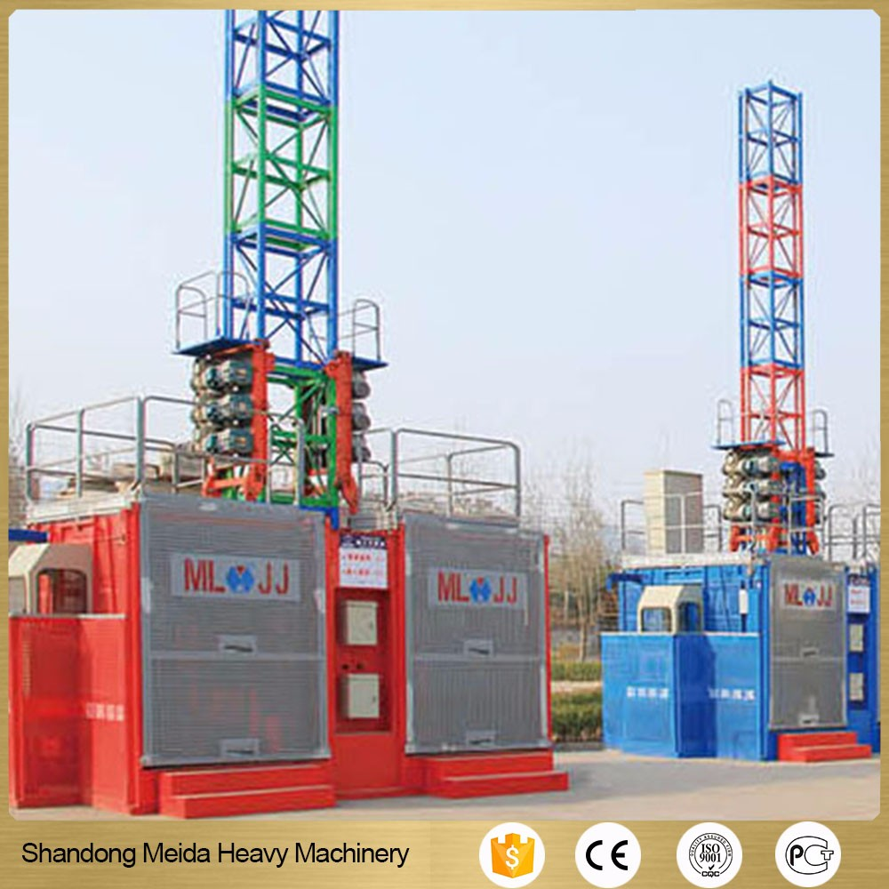 Factory price high quality construction material elevators Manganese pipe lift
