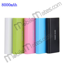 Mobile Power Bank 8000mAh Portable Dual USB Battery Charger for Tablet PC