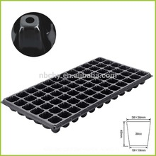 72 Cells Black PS Material Plug Type Plastic Plant growing Nursery Seed germination starting Tray