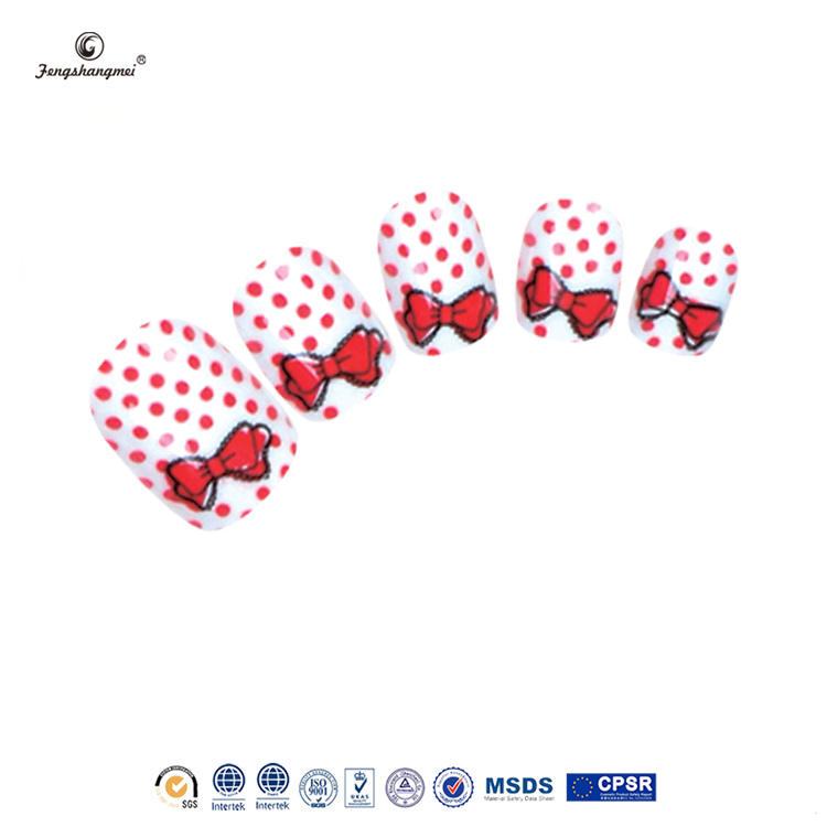 Fengshangmei fake nails free sample high quality nail art fake nail for kids