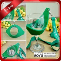 custom soft pvc wine glass holder lanyard ,bottle opener lanyard , beer holder lanyard