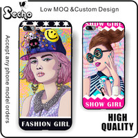 Fashion Girl Phone Case For Girls For iphone 7 7 Plus Back Cover,2017 New Product Colorful Phone Case