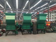Mutifunctional automatic plastic bottle and can crusher/paint bucket crusher for recycling line