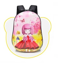 Cute Cartoon Printed PC Waterproof Kids girl School Bag/backpack Wholesale