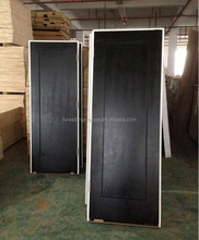 Prehung America Standard Shaker Style Black Stained Interior Wooden Hotel Door