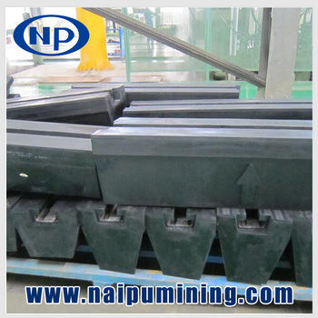Rubber lifter bar for SAG & AG mills Ball Mills Minging Grinding Mills Spares