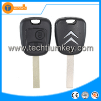 2 button remote car master key blank with 407 HU83 blade for Citroen c4 zx remote key fob case shell groove on blade