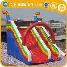 Commercial children Inflatable Rental Slide, Inflatable Zipline slide for Sale