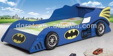 2014 New design kids batman car bed is design for children in E1 MDF board and colorful painting
