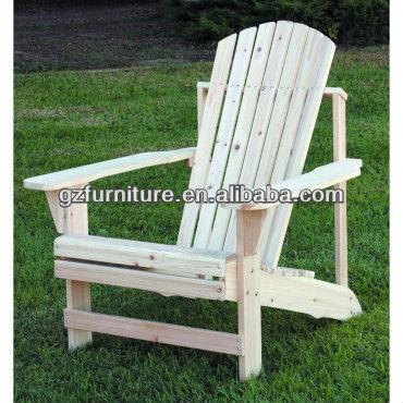 Chine sapin bois chaise adirondack non peint autres for Chaise adirondack bois