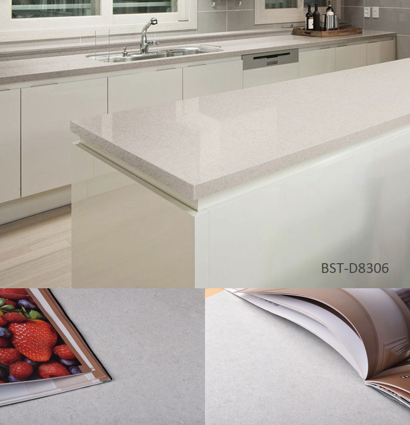 Kitchen Restaurant Granite 93% Natural Quartz Resin Counter Table tops