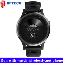 Wirelessly playing music smartwatch built-in 8GB TF card wrist watch mp3 player with GPS tracking