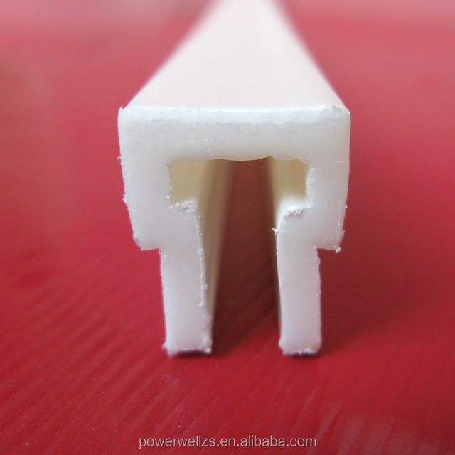 Custom Plastic Extrusion white T shaped PP PE PVC plastic profile