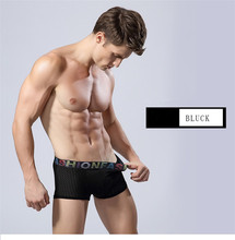 Brethable seamless black boxers shorts gay micro underwear XXXL sexy men boxers and underwear