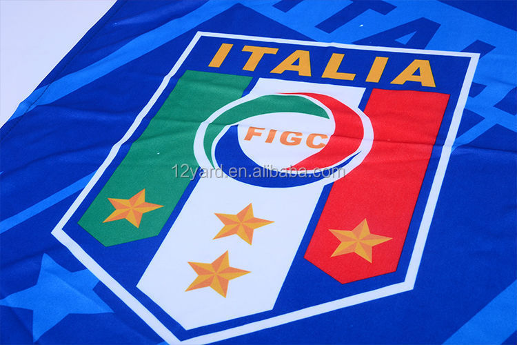 Italy hot sell sport hanging flag/ polyester printed flag