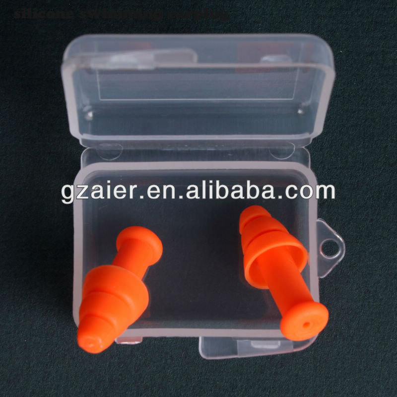 Cheap customized silicone swimming earplug with competitive price