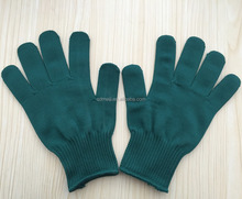 10 gauge green nylon knitted gloves for construction gardening industry 560g/doz
