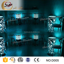 high top metal stainless steel illuminated led bar counter table
