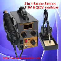 The Best Solder Station 705D Lead-free SMD Hot Air Heat Gun Soldering Station 2 in 1