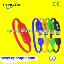 colorful bracelet pen drive 2gb with logo,2gb 4gb pvc wristbands usb pen drive,charm bracelet usb flash drive 2gb