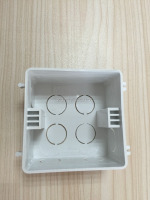 BS standard 4 square flush mount wall box pvc switch outlet box electrical outlets boxes